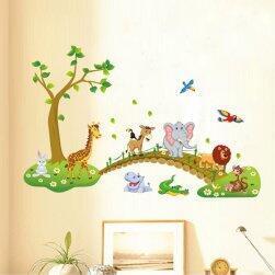 Životinje u prirodi - nalepnica za zid