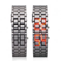 Stilski LED digitalni ručni sat - srebrna boja